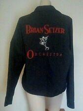 Nemesis Sports BRIAN SETZER ORCHESTRA Souvenir Embroidery JACKET Poly/cotton M