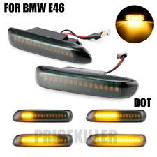 2X Amber Dynamic Flowing LED Side Marker Turn Signal Light For BMW 3er E46 98-01