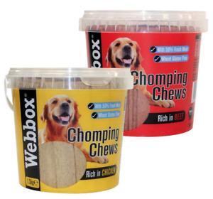 Webbox Meaty Chomping Dog Treat Chews 1.5kg Resealable Tub WHEAT FREE
