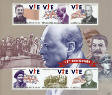 More details for marshall islands military stamps 2020 mnh wwii ww2 ve day churchill stalin 6v ms
