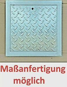 Schachtabdeckung verzinkt Tränenblech Gullideckel rostfrei Rahmen kanal Deckel