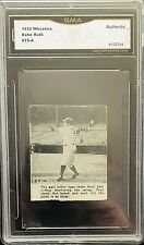 1932 Wheaties FLIP CARD #23-A BABE RUTH GMA  AUTHENTIC
