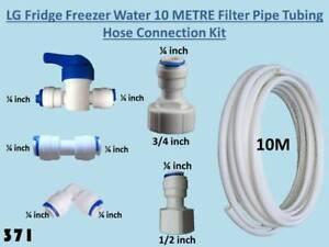 LG Fridge Freezer Water Filter hose Connection Plumbing Kit with 10m Tubing 371