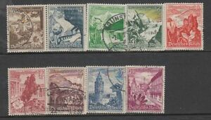 Germany - Winter Relief (Used Full Set) 1938 (CV $57)