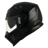 Simpson Venom Plain Gloss Black Motorcycle/Motorbike Full Face Helmet ZE
