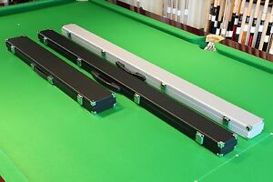 Rexine 3/4 & 2 Pc Snooker/Pool Cue Case, Foam Moulded Interior, Chesworth Cues