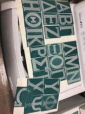 Lot of Greek Letters Sticky Flock Templates (whole alphabet)