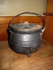 Vintage Cast Iron Salesman Sample Black Cooking Pot/Cauldron