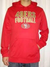 San Francisco 49ers Majestic Men's Fleece Pullover Hoodie Sweatshirt Large