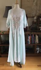 New listing Vintage Christian Dior Nightgown Robe Set Peignoir Lingerie P/S Mint Green Lace