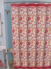 "Peri Home Boho Paisley Fabric Shower Curtain 72"" x 72"" Nip"
