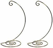 Fancy Gold Metal Ornament Display Hanger Stands, 10 Inch Tall, Pack of 2
