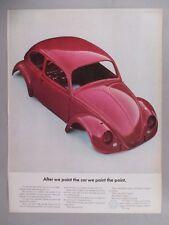 VW Volkswagen Beetle Bug PRINT AD - 1965