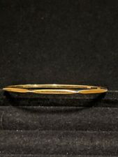 Vintage Estate Money Gold Tone modern Triangle Point Bane Bracelet