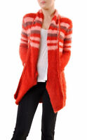 For Love & Lemons Women's Fleetwood Knit Cardigan Red RRP £180 BCF68