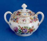 """Schumann """"Empress Dresden"""" 3 3/8"""" Sugar Bowl & Lid Dresdner Art"""