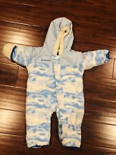 Columbia Baby Snowsuit Bunting Blue Camo Size 12 Months