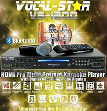 More details for vocal-star vs-1200 cdg bluetooth karaoke machine 2 mics 150 songs   xdem538