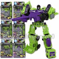 WJ Vehicles Engineering Truck Robot 6in1 Devastator Transformers Action  NO BOX