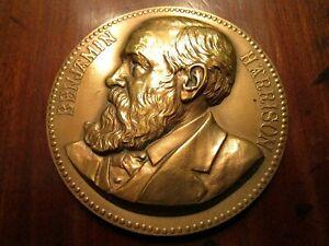 "Presidential 3"" Bronze medallion coin Benjamin Harrison US Mint"