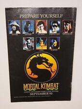 Vintage Retro 1993 Mortal Kombat Video Game ad