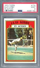 1972 TOPPS CLAY KIRBY IN ACTION #174 PSA 9 MINT CENTERED (1162) **LOW POP**