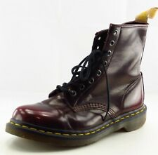 Dr. Martens Boot Sz 8 M Paddock Round Toe Red Patent Leather Women