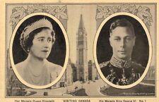 Royalty,U.K.T.M.King George VI & Queen Elizabeth,Visit to Canada,1939