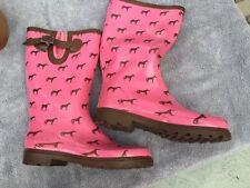 Western Chief Women pink rain boots horse motif Size 9