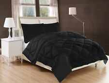 BED IN A BAG Down Alternative Comforter quilt W/ 6pc bamboo bed sheet set solid