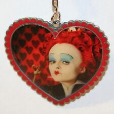 Disney Red Queen of Hearts HEART Alice in Wonderland Metal Key Chain Keychain