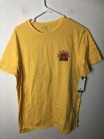 **MINOR DEFECT** Rip Curl Men's Grateful Tee Shirt, Yellow, X-Large, MSRP $29.95