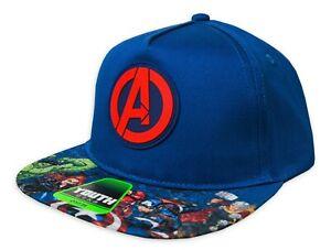 AVENGERS THOR Boys/Youth Flat Bill Logo Baseball Cap Snapback Hat Ages 4-12 NWT