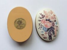 """Vintage 'GARDENIA PERFUMED CANDLE"""" Made in England Empty Small Tin Box"""