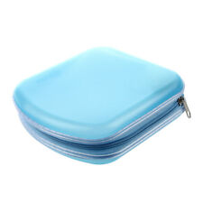 HU Rangement Classeur Pochette Etui Boite Sac Sacoche Plastique 40 CD DVD Blue