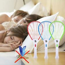 New Electric Mosquito Fly Swatter Pest Bug Wasp Zapper Racket AC Power 110-220V