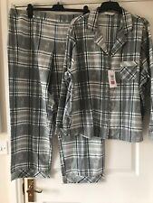 New Marks & Spencer  Checked Brushed Cotton Pyjamas Set Size 22  BNWT