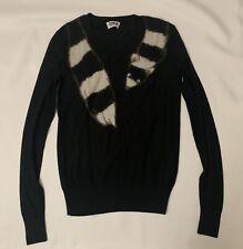 Sonia Rykiel Womens Black Scarf Sweater Size XS