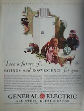 1931 General Electric GE Children Sitting At Table Phone Original Print Ad