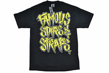 FAMOUS STARS AND STRAPS WOODEN LOGO TEE SKATEBOARD AUTHENTIC IMPORTED FROM USA