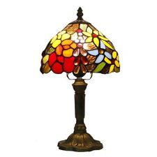 8 inch Retro Rose Stained Glass Tiffany style Table Bedside Reading lamp