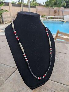 Handmade Native American Necklace  Lanyard Reversible Tsalagi Made (Cherokee)