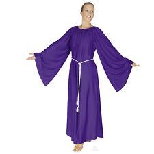 """NWT! Eurotard praise liturgical PLUS ANGEL dress PURPLE 4X chest 56"""" dance wear"""
