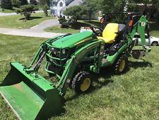 New listing John Deere 1025R 2019 Hst Diesel Tractor with Loader Backhoe And Tiller