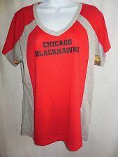Chicago Blackhawks Women's GIII Hands/High V Neck Tee Shirt