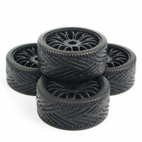 4x17mm hex 1/8 RC Flat RacinOff Road Tires Wheel Rims HPI HSP Traxxas Buggy Car