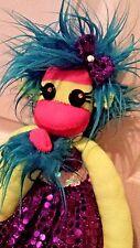Custom Handmade Furry Stuffed Plush Animal Toy Sock Monkey Penelope The Punkey