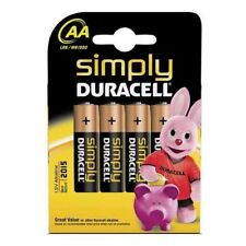 4 X Duracell AA Simply Batteries Mn1500 B4