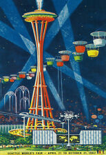 Space Needle Worlds Fair Poster - Seattle, Wa Poster Print, 13x19