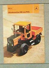 MB trac 700 Kommunal Allradschlepper Original 1981
